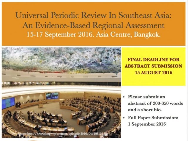 Universal Periodic Review in Southeast Asia: An Evidence-Based Regional Assessment